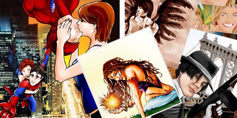 Illustrazioni e fumetti su richiesta