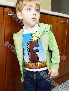 maglietta illustrata per bambini