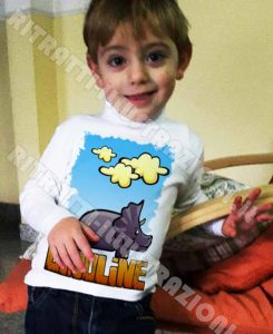 magliette dinoline: t-shirt illustrate per bambini