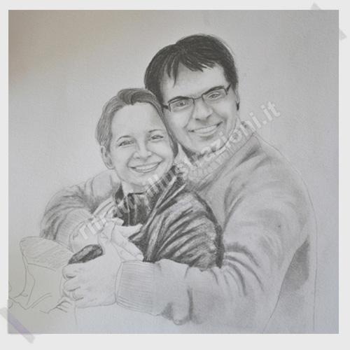 ritratto di coppia su richiesta