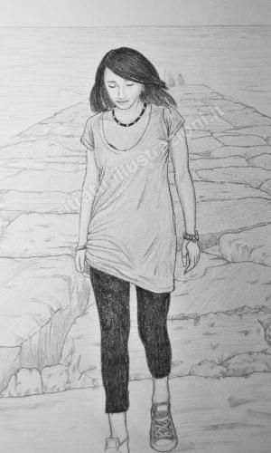 ritratto ragazza su richiesta